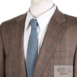 BROOKS BROTHERS Sport Jacket 40R Golden Brown Rust Wool-Cashmere Full Canvas
