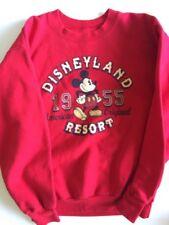 Walt Disney Disneyland Resort Red Sweatshirt Youth Large Mickey Mouse