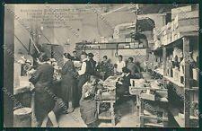 Napoli Torre del Greco Lavorazione Corallo Mestieri cartolina EE5801