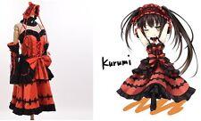 Cute Lolita Girls Tokisaki Kurumi Cosplay Costume Anime DATE A LIVE Fancy Dress