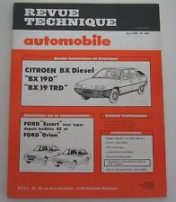 Revue technique automobile RTA 445 Citroën BX diesel BX 19 D 19 TRD