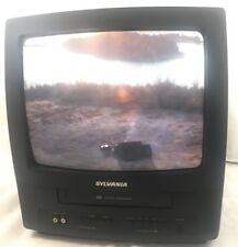 "Sylvania 6313CE 13"" CRT Television TV VCR VHS Combo NO Remote - Tested & Works"