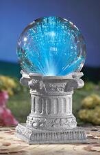 """5-1/2"""" Color-Change Solar Lighted Fiber-Optics Gazing Ball on Pedestal Base 10""""H"""