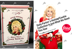 NEW 26 WILLIAMS SONOMA HOLLY DOLLY PARTON HOLIDAY COOKIE CUTTER BAKING KIT LOT