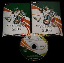ROLAND GARROS 2003 Pc Versione Ufficiale Italiana ••••• COMPLETO