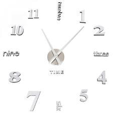 Soledi 3d Horloge moderne Miroir Surface Grand Nombre murale Autocollant...