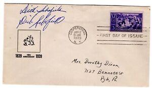 Baseball #855 FDC 1939 Planty #95 CV$750 Autographed Schofield Sr & Jr.
