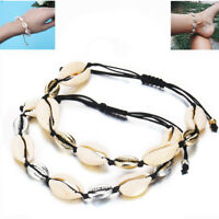 Gold Silver Shell Bead Chain Adjustable Handmade Rope Lady Beach Bracelet Anklet
