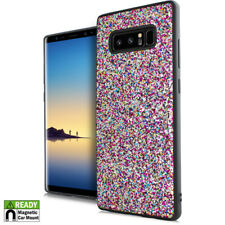 For Samsung Galaxy NOTE 8 Rainbow Glitter Magnetic Back Hybrid Rubber Case Cover