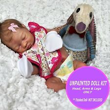 Reborn Doll Vinyl only Kit - Unpainted vinyl kit to make a Cute baby - Lexi