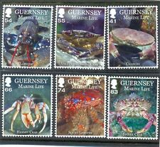 Guernsey-Fish& Marine-new issue 2014 set of 6 mnh-Crustaceans(Part II)Crabs etc