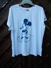 H&M Damen T Shirt H&M+ Mickey Mouse weiß XL XXL Disney 48 50 2XL NEU
