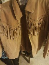 Scully Womens Western Fringed Coat Small