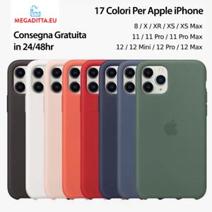 COVER Custodia In SILICONE Per Apple iPhone X XS XR 11 12 Pro Mini Max