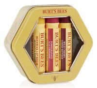 Burt's Bees Lip Balm Lipbalm TRIO TIN: Beeswax/Pomegranate/Wild Cherry GIFT SET