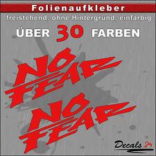 2er SET - NO FEAR Sponsoren-Folienaufkleber Auto/Motorrad - 30 Farben - 8cm