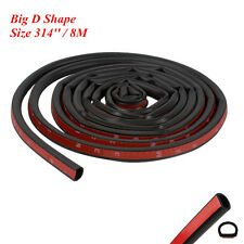 8M Big D Shape Car Door Edge Rubber Trim Weather Seal Hollow Strip Weather Strip