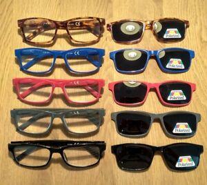 Lesebrille mit getöntem Magnet Clip-on Lesehilfe Sonnenbrille  Pol Überbrille