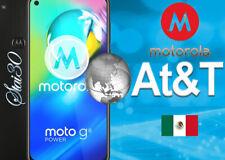 Mexico AT&T UNLOCK CODE Service all MOTOROLA MOTO Z2 E5 E5 Play G6 E6 ONE México