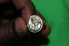 Sri Shirdi Sai Baba Sterling Silver Ring - Plain - Size 4