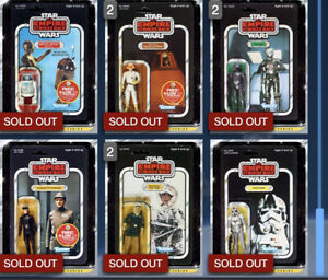 Star Wars Card Trader VCS Vintage Collectors Series Lot Of 6 Super Rare Carded