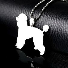 Stainless Steel Giant Standard Toy Poodle Pudle Caniche Barbone Pet Dog Pendant