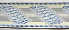 Vintage 75 Ft Bolts Clarence House Blue Fringe Swag Victorian Wallpaper Border