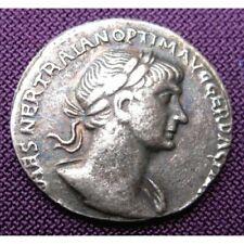 Ancient Roman Trajan Caesar Denarius ~ Re-Strike Silver Plated Coin
