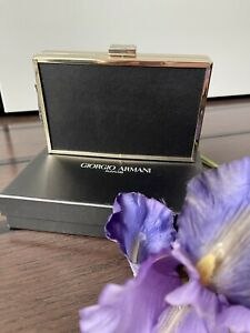 Giorgio Armani Parfums Women Black Cosmetic Makeup Clutch Case Purse Bag. New