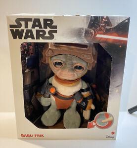 "Star Wars TALKING BABU FRIK - Plush 9"" Mattel New Some Box Damage - See Pics"