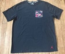 NWT Men's Nike Air Jordan AJ 9 Pocket Tshirt Black Sz XL