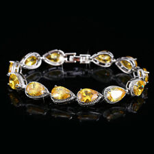 New Summer Holiday Jewelry Gifts Yellow Citrine Gems Women Bracelets Hand chain