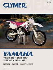 Yamaha YZ125 YZ250 1988 - 1993 y WR250Z 1991 - 1993 Clymer Manual M391 Nuevo