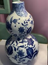 New ListingAsian Vase Blue White Formalities by Baum Bros. 12 1/2� Tall