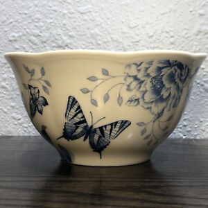 Lenox BUTTERFLY MEADOW TOILE BLUE Rice / Berry Bowl