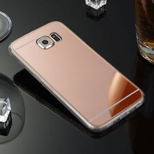 Luxury Chrome Slim Mirror Soft Gel TPU Full Case For Samsung Phone Accessories