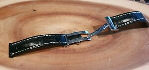 Breitling 20mm leather strap  deployment deployant clasp