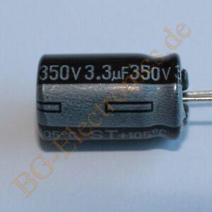 20 x 3.3µF 3.3uF 350V 105° RM5 Elko Kondensator Capacitor  Samwha E-Cap 20pcs