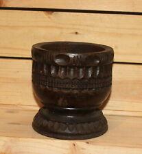 Vintage carving wood cup bowl