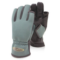 Dirt Boot Anti-Slip, Neoprene, Super-Grip, Part Fingerless, Fishing Gloves