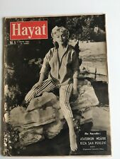 Hayat Marilyn Monroe May 1956 Turkish Magazine Cover by Baron
