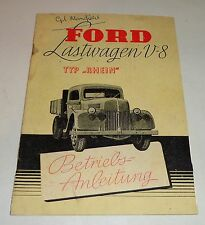 Operating Instructions/Manual Ford V8 Truck Type Rhine Stand 1948