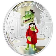 Cook 2011 Soyuzmultfilm Crocodile Gena and Cheburashka - Gena 1 Oz Silver Coin