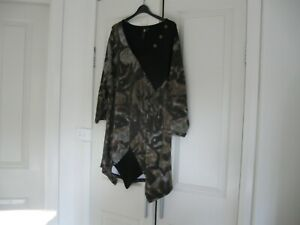 Ladies Long Top Design TS  Size L  Colour Black,Fawn,Brown  & White 3/4 Sleeves