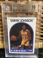 POP 1!🔥💎 1989 Magic Johnson NBA HOOPS #270 BGS 10 PRISTINE PSA gold larry bird