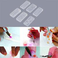 Hot 2Pc DIY Nail Art Tips 3D UV GEL Powder Silicone-Mould Set Nail Design.