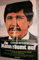 A1.Filmplakat ,EIN MANN RÄUMT AUF,CHARLES BRONSON