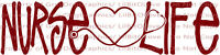 Nurse Life with Stethoscope Heart Vinyl Decal Sticker Nursing RN Medical Scrubs