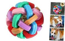 New listing Dog Toy Ball Environmentally Friendly Rubber Woven Ball pet chew Toy with Bell