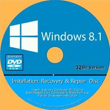 Windows 8.1 installieren erholen Reparatur Fix PC-DVD Home Basic & Professional 32 Bit